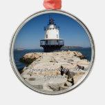 Spring Point Ledge Lighthouse Christmas Tree Ornament