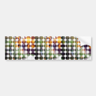 Spring Polka Dots Yellow Berries Bumper Sticker
