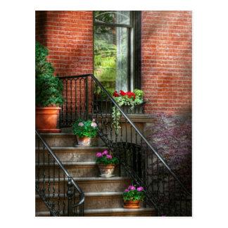 Spring - Porch - Hoboken in Spring Postcard