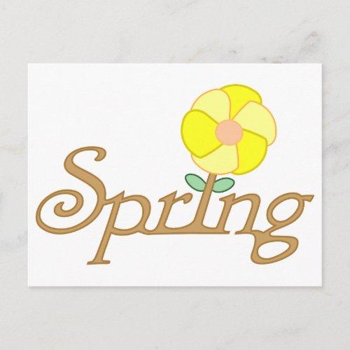 Spring Postcard postcard