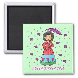 Spring Princess 2 Inch Square Magnet