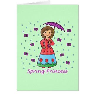 Spring Princess Card