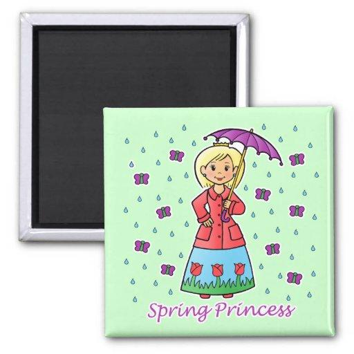 Spring Princess Fridge Magnets