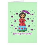 Spring Princess Greeting Cards