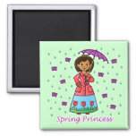 Spring Princess Magnets