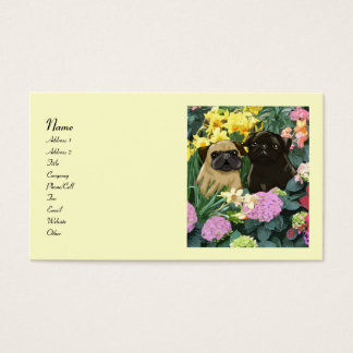 Spring Pugs Business Cards