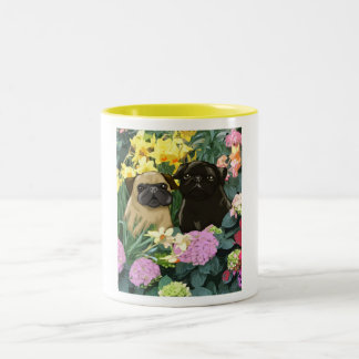 Spring Pugs Mug - Awesome Pug Design