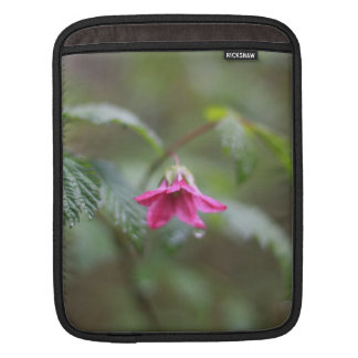 spring purple flower in the rain. sleeve for iPads