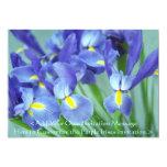 Spring Purple Irises Flower Art Photo Invitation