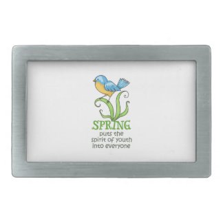Spring Puts The Spirit Of Youth Into Everyone Belt Buckle