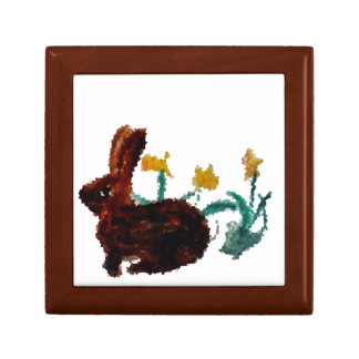 Spring Rabbit Daffodil Art Gift Box