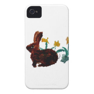 Spring Rabbit Daffodil Art iPhone 4 Cover