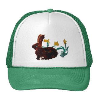 Spring Rabbit Daffodil Art Trucker Hat