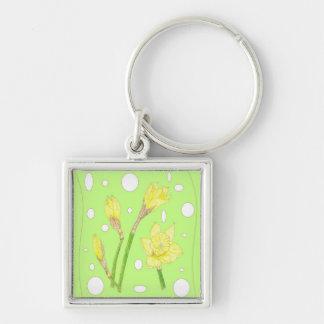 Spring Rain - Blooming Daffodils Keychain