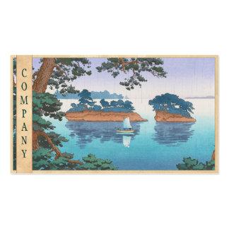 Spring Rain, Matsushima Japanese waterscape art Business Card