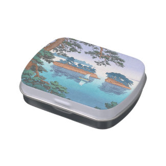 Spring Rain, Matsushima Japanese waterscape art Jelly Belly Candy Tin