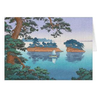 Spring Rain, Matsushima Japanese waterscape art Card