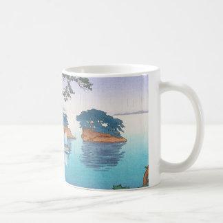 Spring Rain, Matsushima Japanese waterscape art Coffee Mug