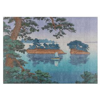 Spring Rain, Matsushima Japanese waterscape art Cutting Boards