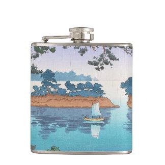Spring Rain, Matsushima Japanese waterscape art Flasks