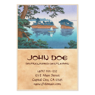 Spring Rain, Matsushima Japanese waterscape art Large Business Cards (Pack Of 100)