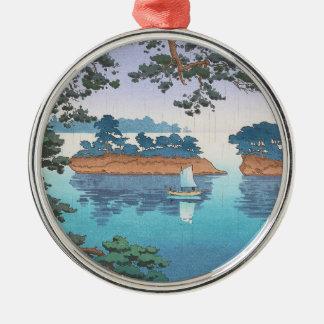 Spring Rain, Matsushima Japanese waterscape art Metal Ornament