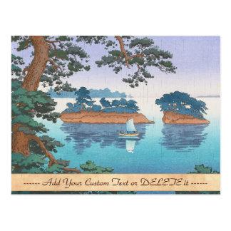 Spring Rain, Matsushima Japanese waterscape art Postcard