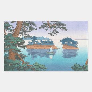 Spring Rain, Matsushima Japanese waterscape art Stickers