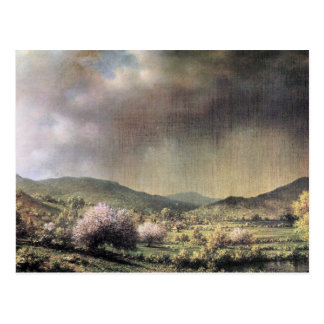 Spring rain, the valley of Connecticut Postcard