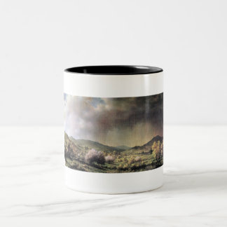 Spring rain, the valley of Connecticut Two-Tone Coffee Mug