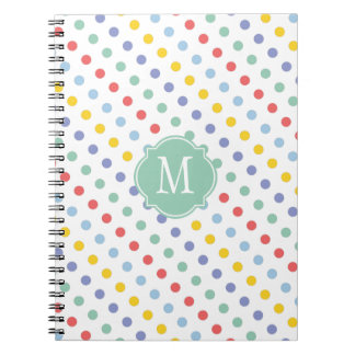 Spring Rainbow Monogram Notebook