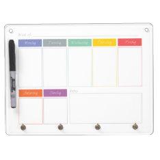 Spring Rainbow Weekly Calendar Dry Erase Board at Zazzle