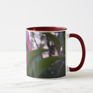 Spring red dogwood flower mug