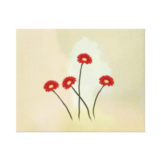 spring red  flowers Canvas Print