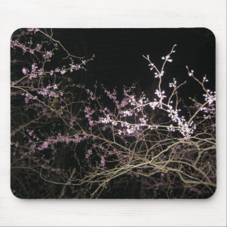 spring redbud at night mouse pad