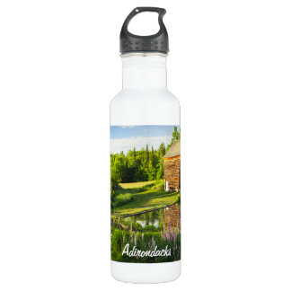 Spring Reflections in the Adirondacks, N.Y. 24oz Water Bottle