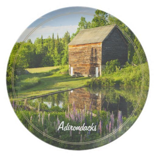 Spring Reflections in the Adirondacks, N.Y. Dinner Plate