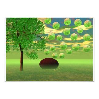 "Spring Renewal – Lemon & Lime Life Force 5"" X 7"" Invitation Card"