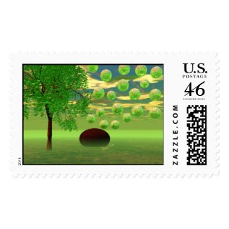 Spring Renewal – Lemon & Lime Life Force Postage Stamp
