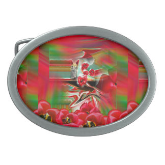 Spring Revival Abstract Easter Art Belt Buckle