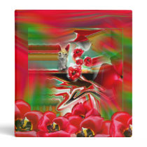 Spring Revival Abstract Easter Art Binder