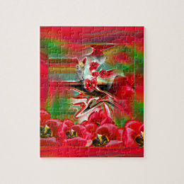 Spring Revival Abstract Easter Art Jigsaw Puzzle