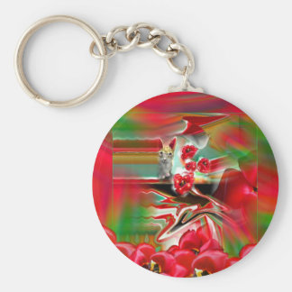 Spring Revival Abstract Easter Art Keychain