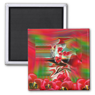 Spring Revival Abstract Easter Art Magnet