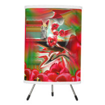 Spring Revival Abstract Easter Art Tripod Lamp