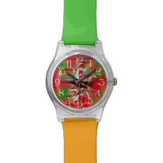 Spring Revival Abstract Easter Art Wristwatches