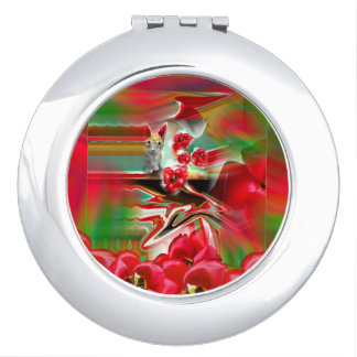 Spring Revival Compact Mirror