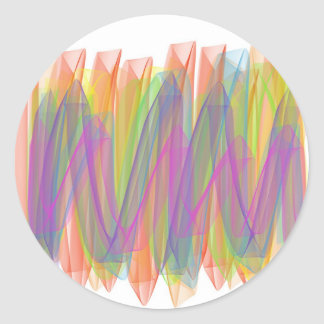 Spring ribbons classic round sticker