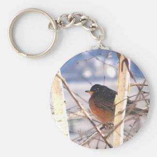 Spring Robin Keychain