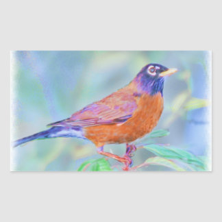 Spring Robin Rectangular Sticker